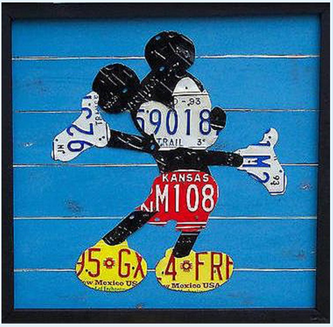 Mickey Mouse License Plate Art