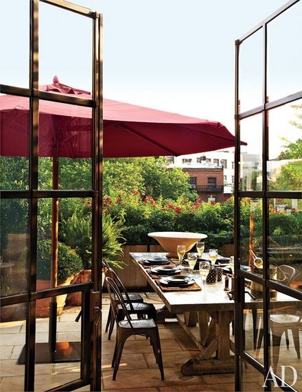 Patio Dining at Goldfarb/Paredes East Village Penthouse