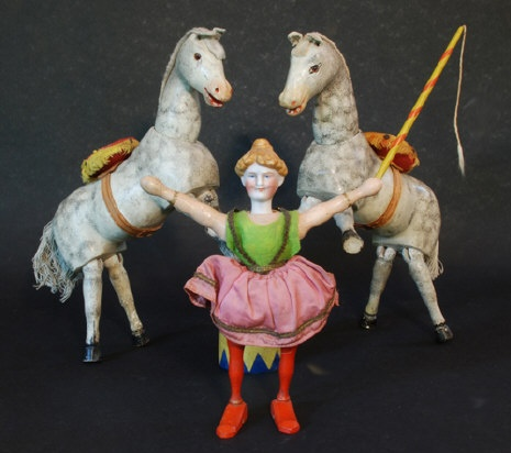 Schoenhut's Humpty Dumpty Circus Acrobat and Horses