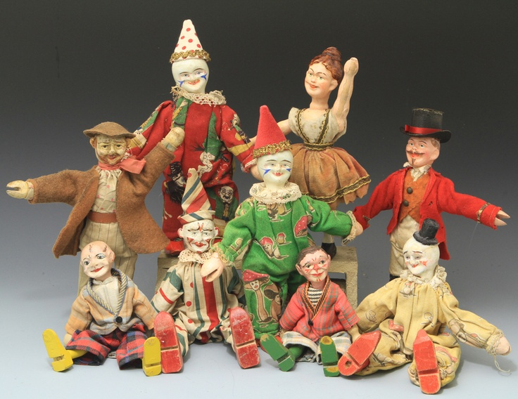 Schoenhut's Humpty Dumpty Circus Cast of Characters
