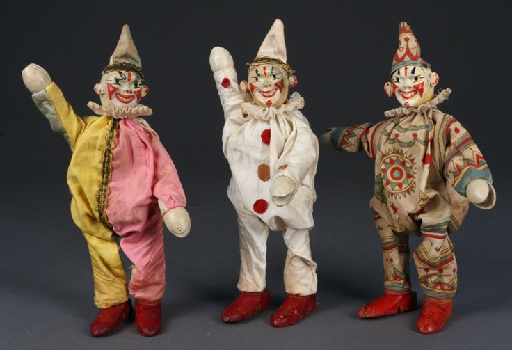 Schoenhut's Humpty Dumpty Circus Creepy Clowns