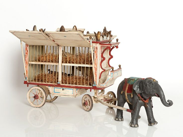 Schoenhut's Humpty Dumpty Circus Elephant and Cage