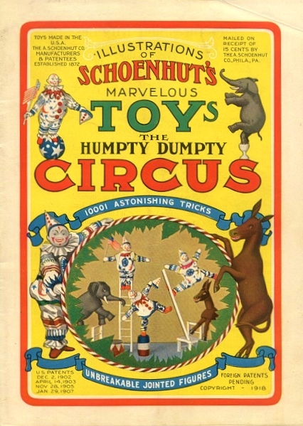 Schoenhut's Marvelous Toys the Humpty Dumpty Circus