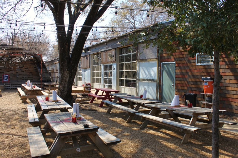 The Beer Garden at the Foundry in Oak Cliff