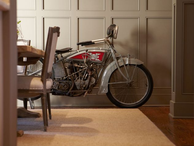 Vintage Indian in Mike Wolfe's Dining Room from Nashville Insider Magazine