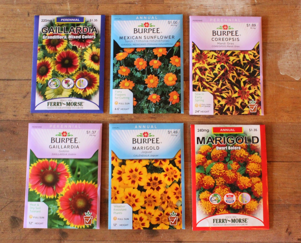 Assorted Flower Seeds We Started With
