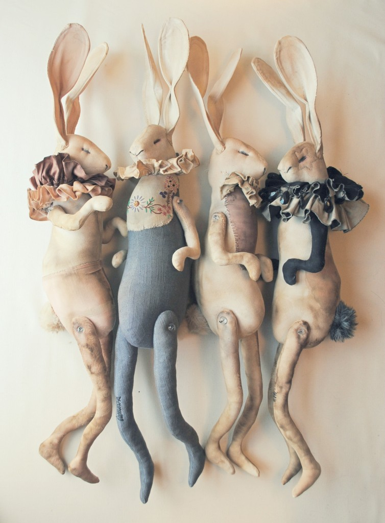 Hare Dolls Made With Vintage Cottons by Mister Finch