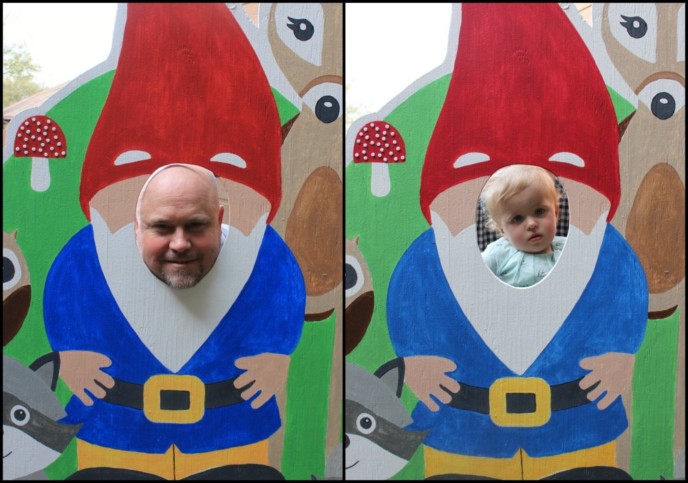 Jamie and Teagan Gnome Collage