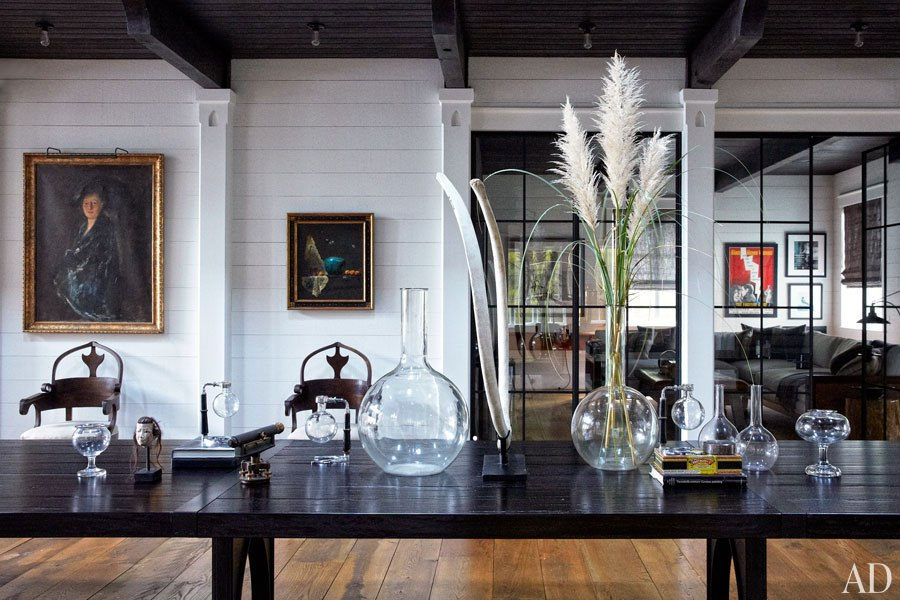 John Mellencamp's South Carolina House Dining Area