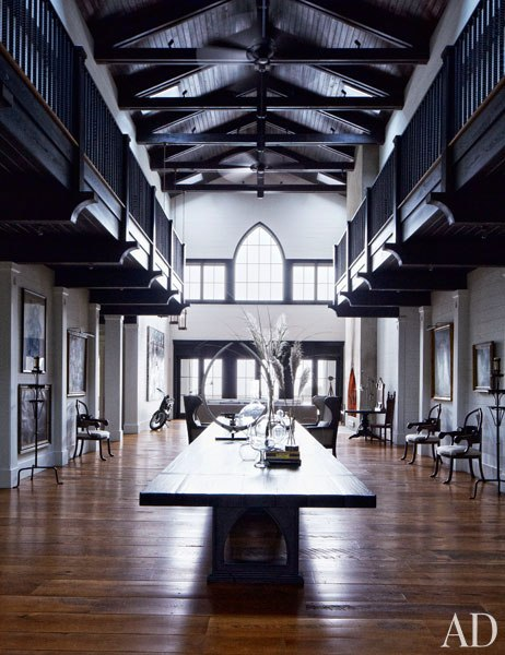 John Mellencamp's South Carolina House Living Hall