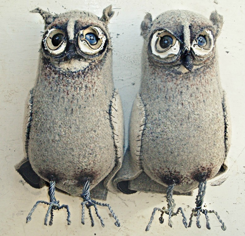 Soft Sculpture Owls by Mister Finch