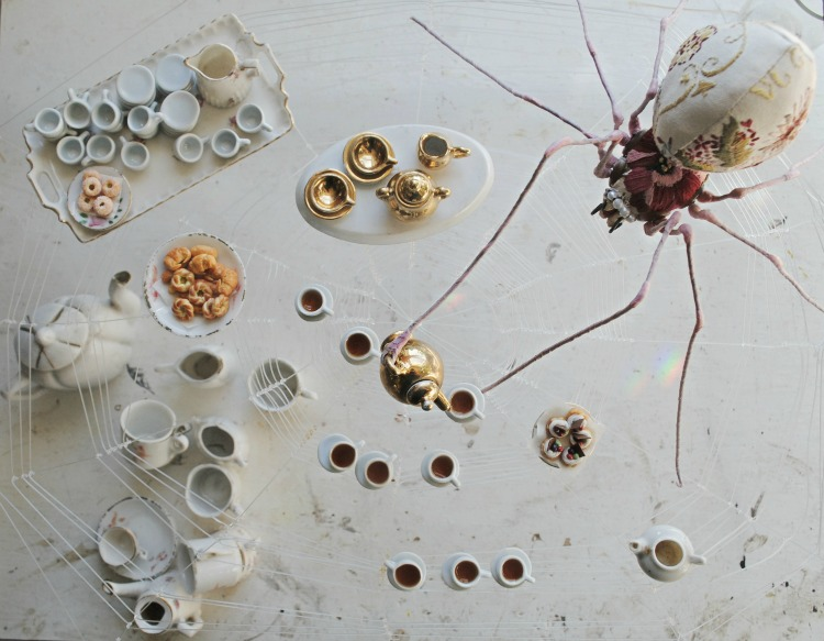 Tea making Spider by Mister Finch