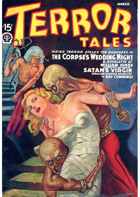 Terror Tales Corpse Wedding Night Pulp Novel