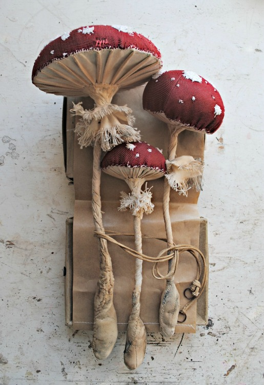 Textile Fairytale Toadstools by Mister Finch