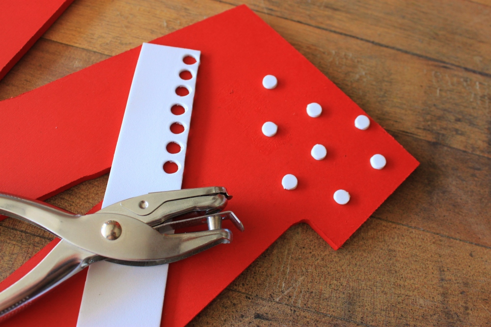 Use a hole punch to punch out the Dots from the Craft Foam