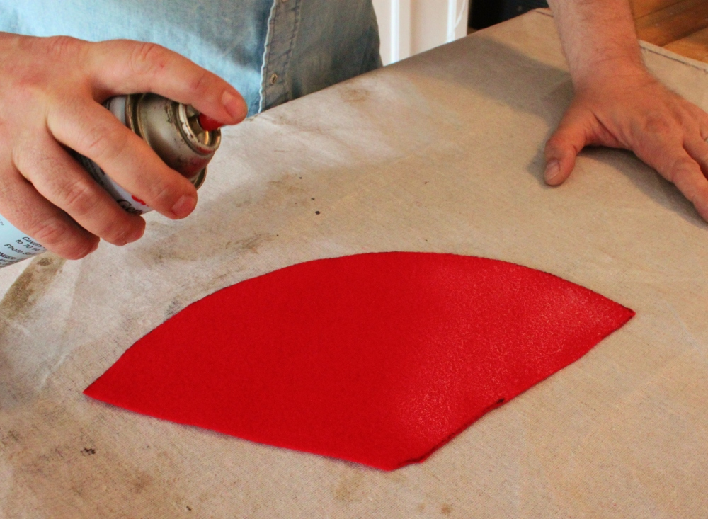 Use Spray Adhesive Liberally on the Felt