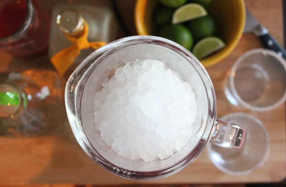 Fill a Blender with 3 Cups of Ice
