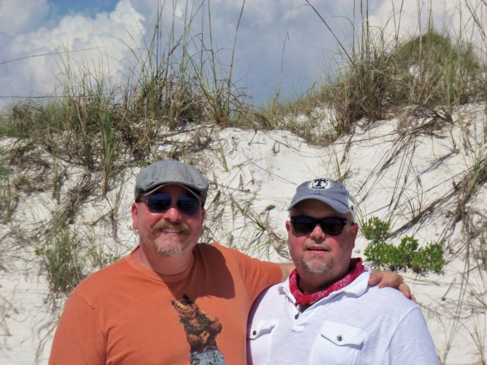 James and Jamie on the Dunes at Cape San Blass