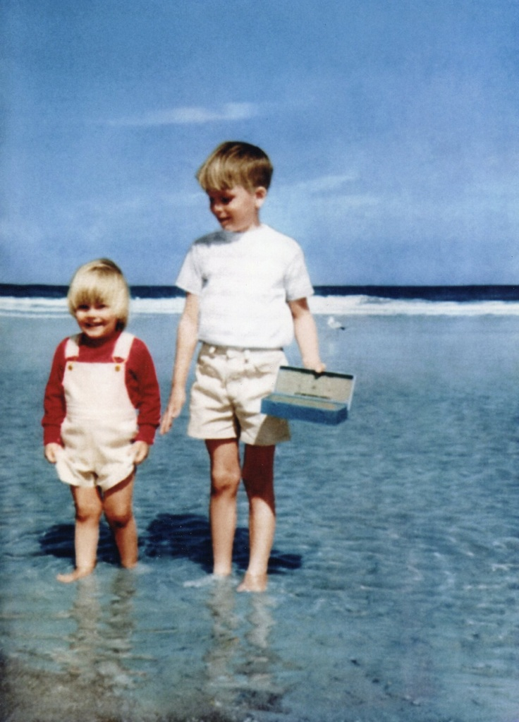 Jimmy and Joshua on the Tampa Beach 1970-Something