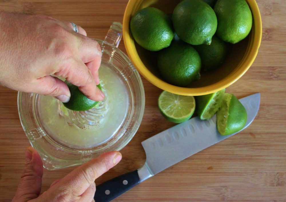 Juicing Fresh Limes by Hand