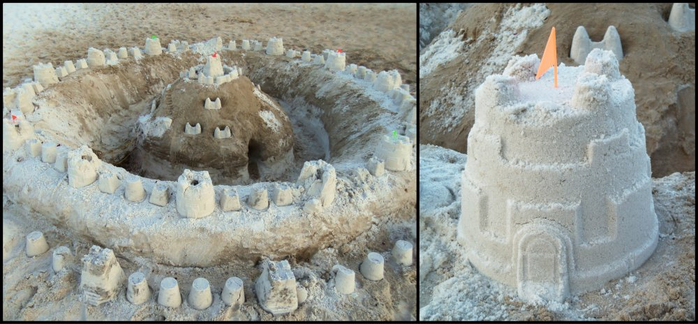Sand Castle Collage