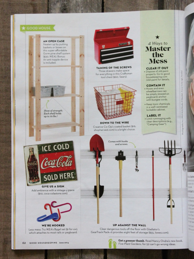 Steal Our Style - The Cavender Diary Garage in Good Housekeeping Magazine
