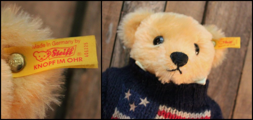 Steiff Yellow Tag Collage