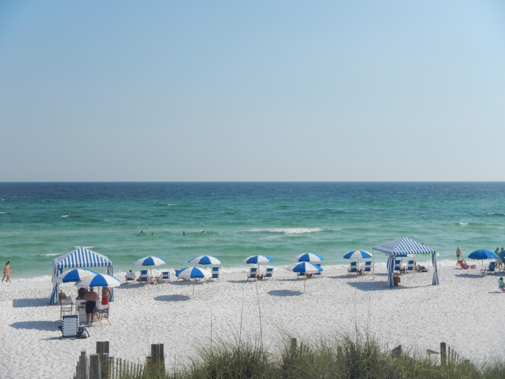 The White Sand Beaches at Seaside Florida