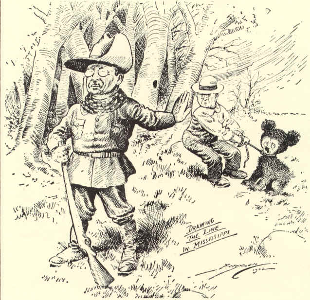 Theodore Roosevelt Refuses to Shoot a Teddy Bear Political Cartoon