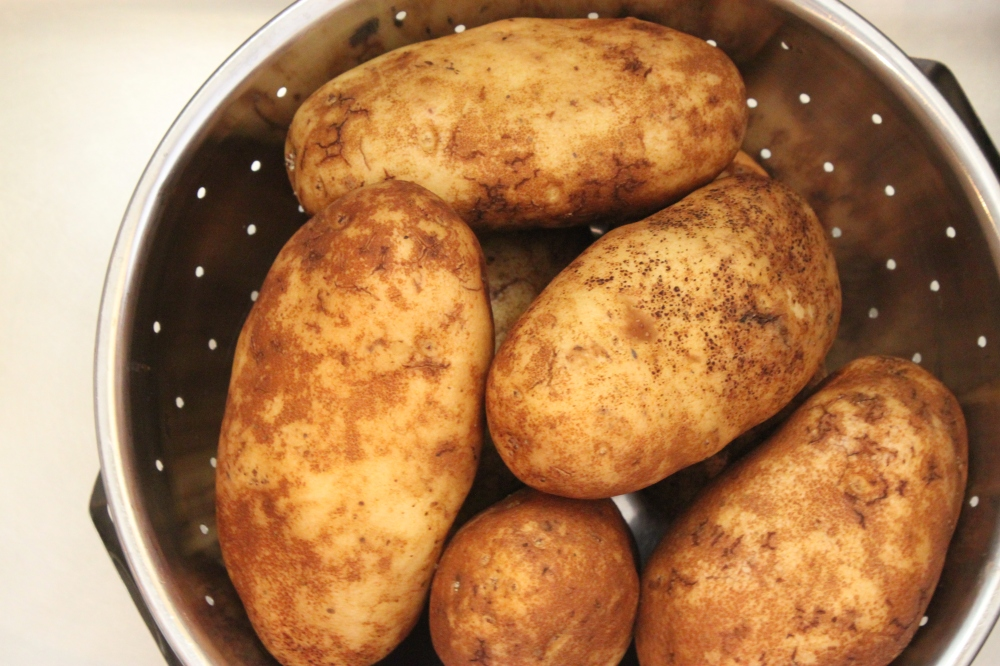 4 to 5 Good Sized Russet Baker Potatoes with the Skins Throughly Cleaned