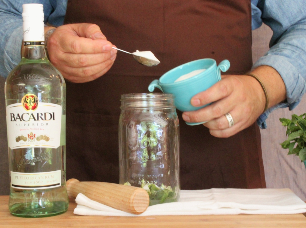 Add 2 Heaping Teaspoons of Sugar to the Mason Jar