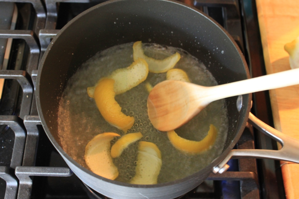 Boil Sugar, Water, and Lemon Peel for 5 Minutes
