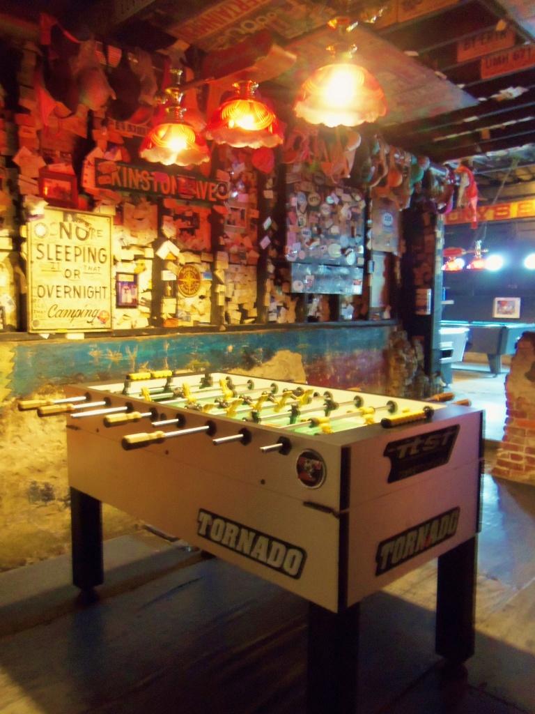 Fooze Ball Table at Captain Tony's