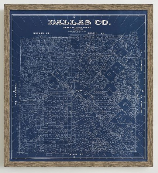 Framed 1884 Map of Dallas County From West Elm