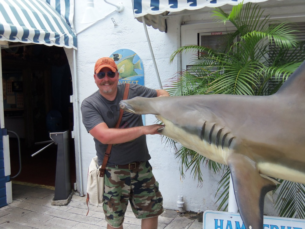 James Vs the Hammer Head Shark on Duval Street