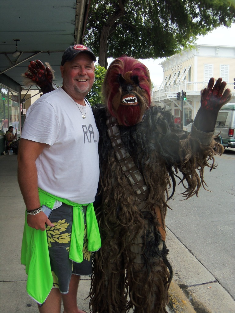 Jamie and Chewie on Duval St.