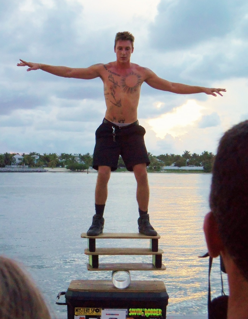 Key West Performer Balancing at Sunset