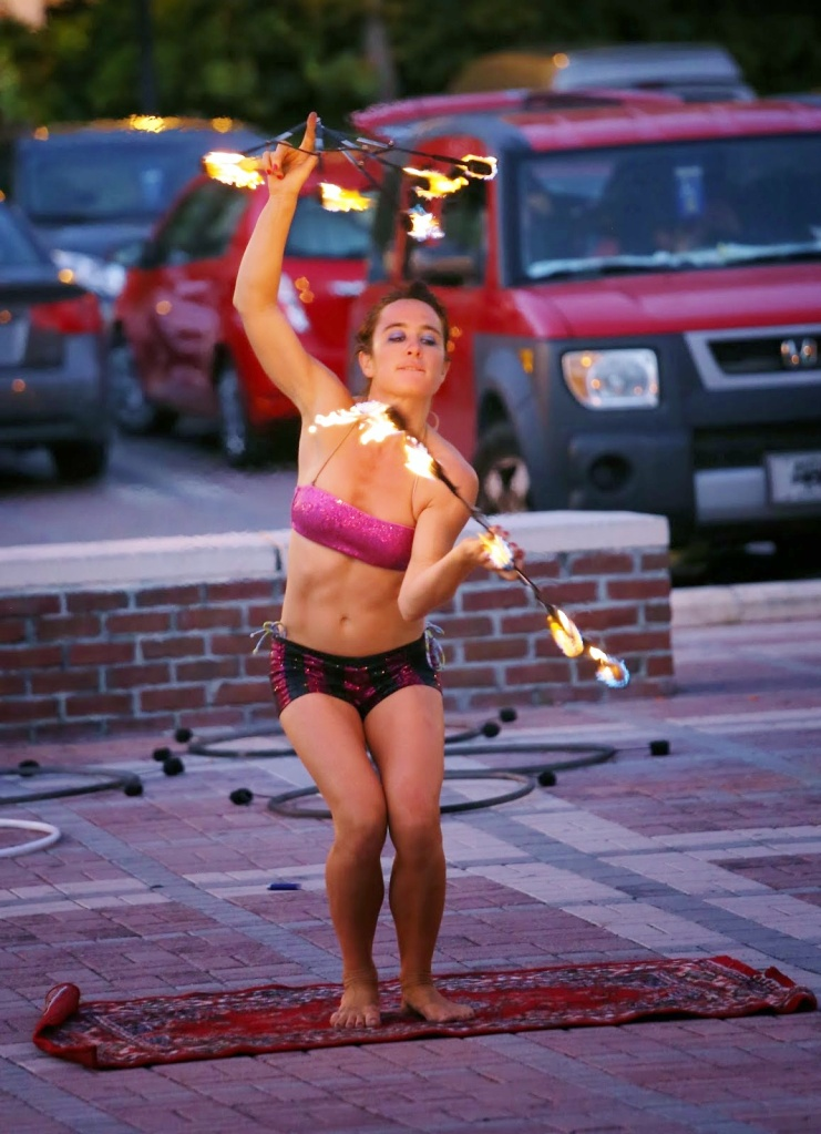 Key West Street Preformer Juggling Fire