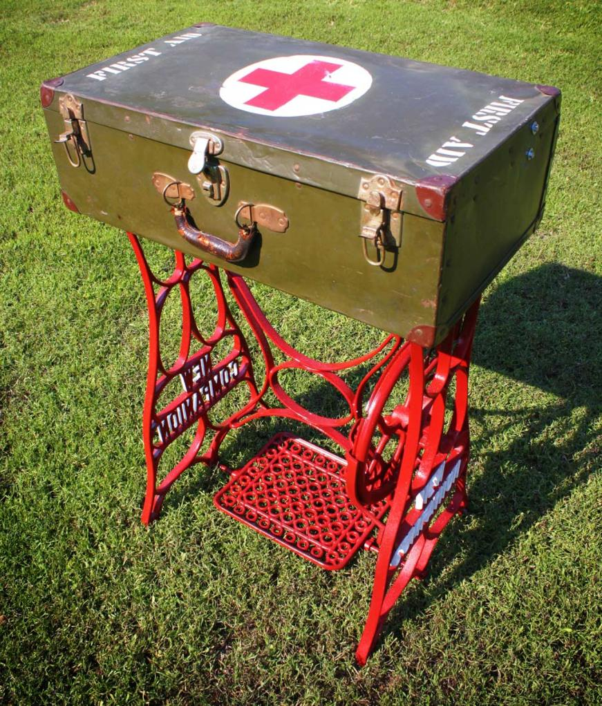 Military Case First Aid Sewing Table by the Design Sponge