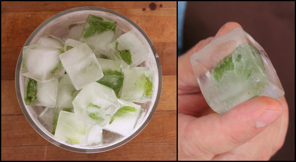 Mint Filled Ice Cubes Collage