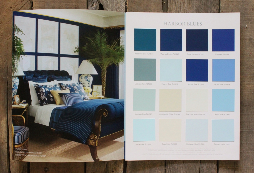 Paint Chips of Ralph Lauren Paint Lifestyle Harbour Blues