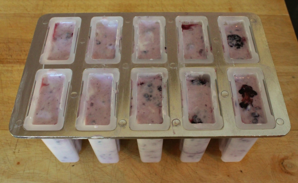 Paletas in Popcicle Molds Ready for the Freezer