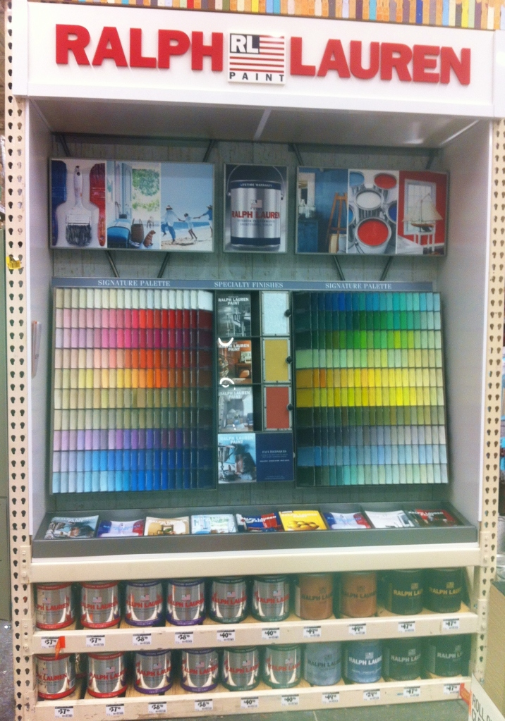 Ralph Lauren Paint Display At the Home Depot