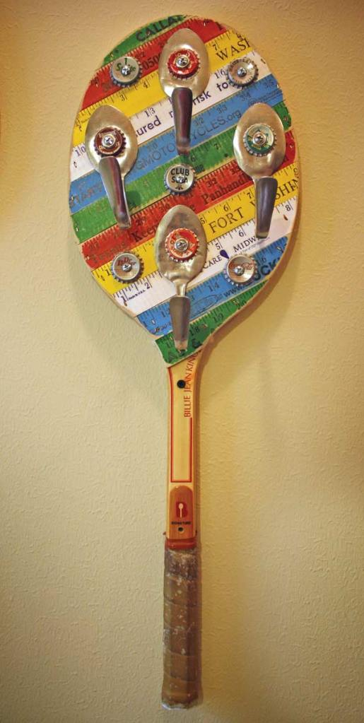 Spoon Hooks Yardstick Tennis Racket by the Design Sponge
