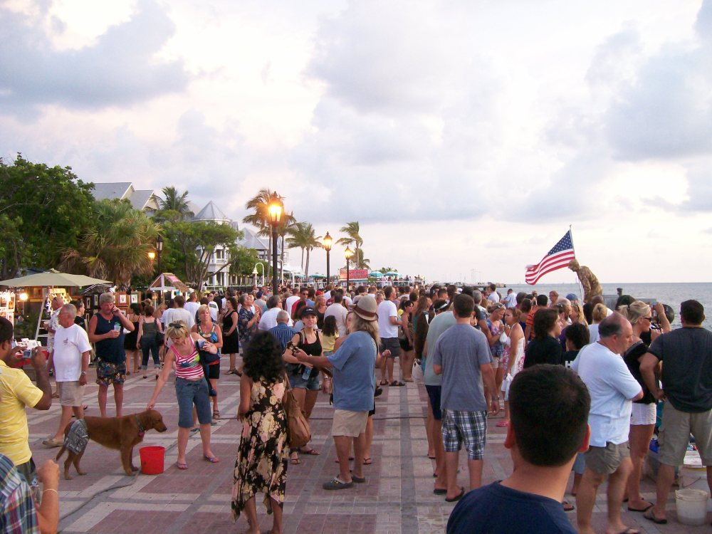 The Croud in Key West at the Sunset Celebration