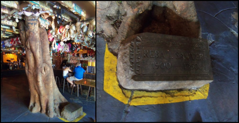 The Hanging Tree in Captain Tony's and the Gravestone Beneath Collage