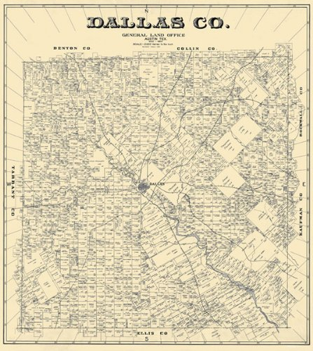 Unframed 1884 Map of Dalals County from Amazon