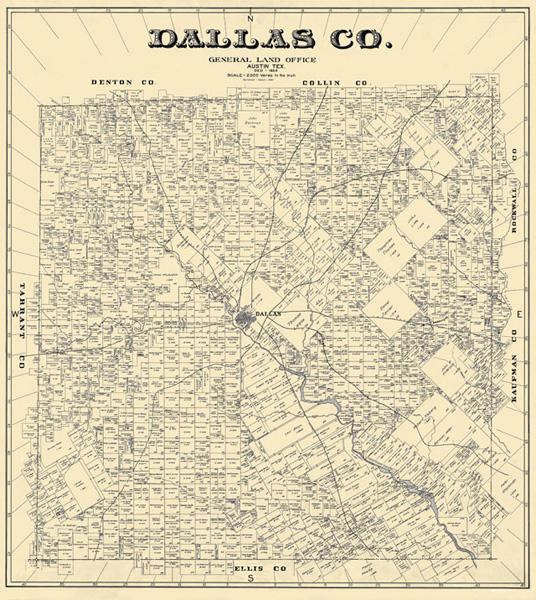 Unframed 1884 Map of Dallas County from eBay