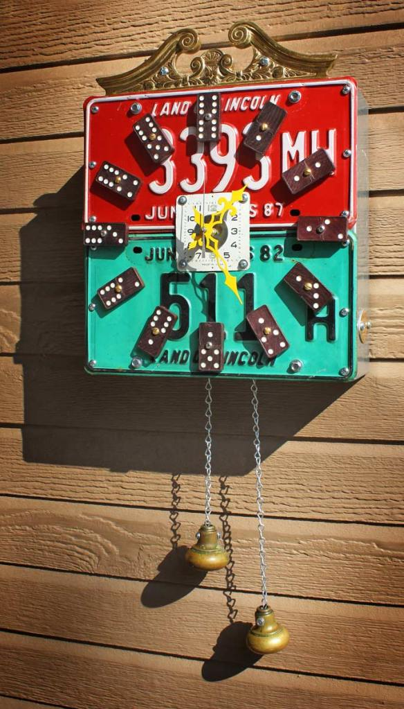 Upcycled Domino Cuckoo Clock by the Gadget Sponge