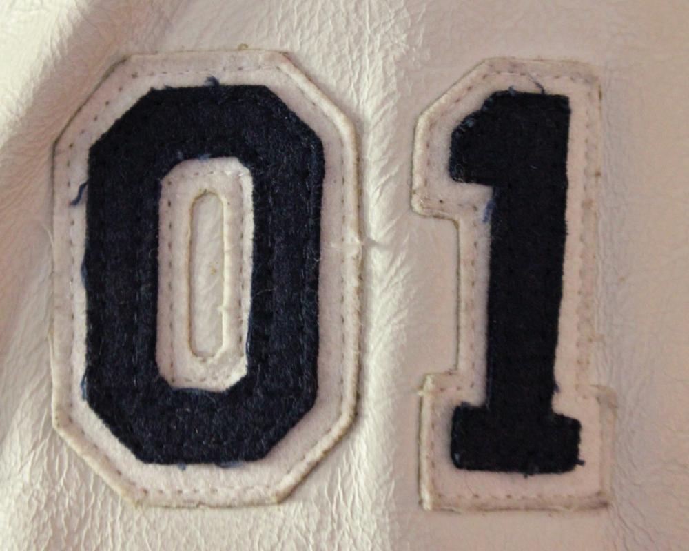 01 on Jamie's Varsity Jacket
